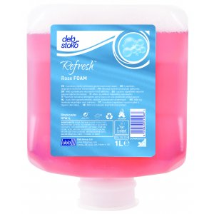 Deb Refresh Rose Foam Soap Ctn6x1ltr