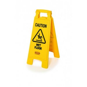 Yellow Caution Wet Floor Sign A Frame