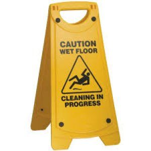 Sign A-frame Cleaning In Prog/wet Floor (yellow)