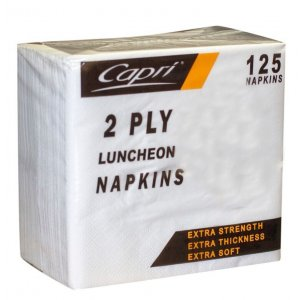 Napkin Lunch 2ply White C-nl0120