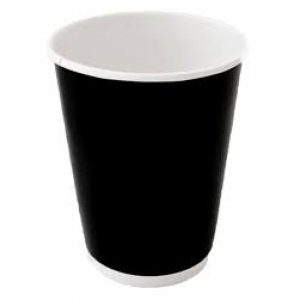 8oz Blk Coolwall Coffee Cup C-hc0680