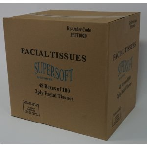 Supersoft Facial Tissues Pkt 100 Ctn48
