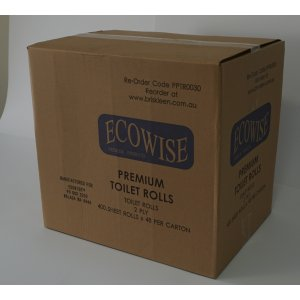 Ecowise Premium T/rolls 48ctn 400 Sheet 2ply