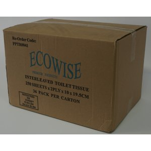 Ecowise Interleaved Toilet Tissue 2ply36x250(it250)