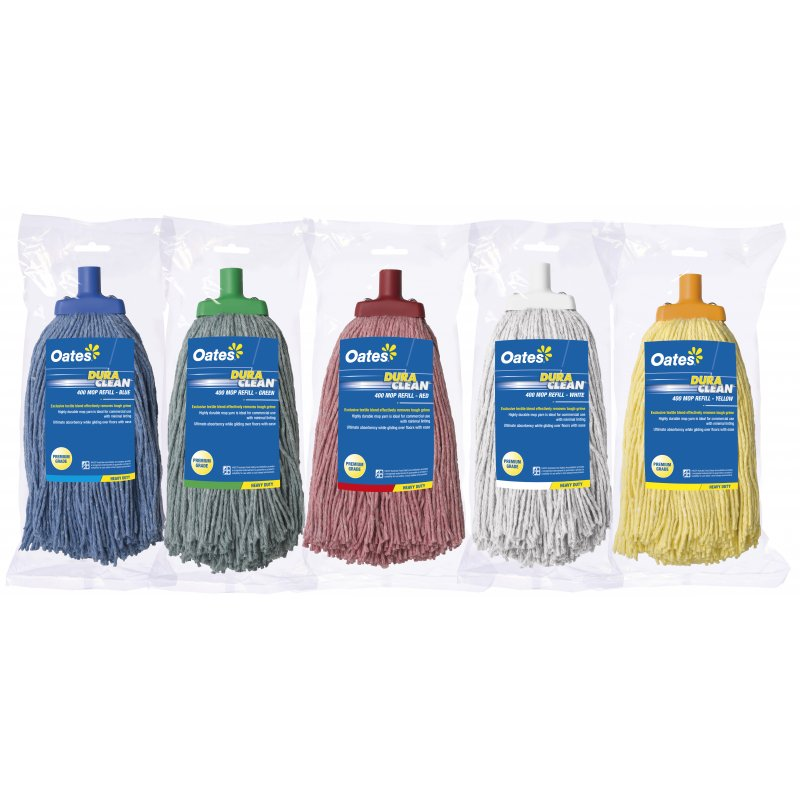 Oates Duraclean Mophead Red 400grm Acmo0021 Briskleen