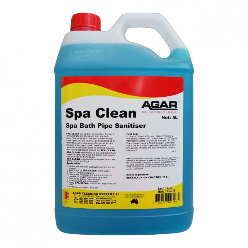 Agar Spa Cleaner 5ltr | CHDESA05 | Briskleen Supplies