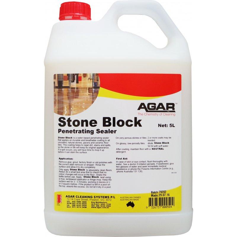 Agar Stone Block Floor Sealer 5ltr | CHFSSB05 | Briskleen Supplies